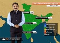 Monsoon Forecast for Jul 29, 2017: Heavy rain in flood hit Gujarat, Rajasthan, Madhya Pradesh