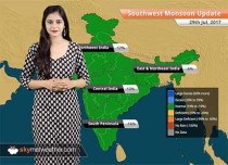 Monsoon Forecast for Jul 30, 2017: Monsoon rains in Rajasthan, Gujarat, Chhattisgarh, Uttar Pradesh, Uttarakhand