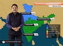 Monsoon Forecast for Jul 20, 2017: Monsoon rain in Madhya Pradesh, Gujarat, Chhattisgarh