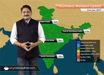 Monsoon Forecast for Jul 22, 2017: Monsoon rain in Uttar Pradesh, Madhya Pradesh and Gujarat