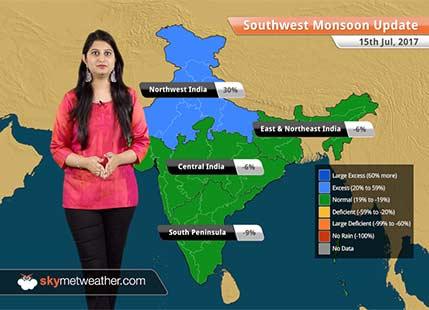 Monsoon Forecast for Jul 16, 2017: Heavy Monsoon rains to lash Madhya Pradesh, Rajasthan, Gujarat
