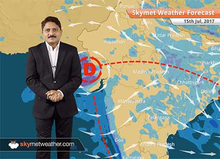 Weather Forecast for July 15: Heavy rains in Gujarat, MP, Mumbai, Dry weather in Delhi, UP