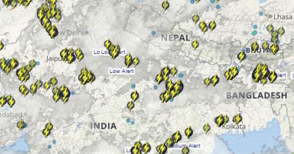 Northwest India Lightning and rain 18 july