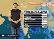 Monsoon Forecast for Jul 4, 2017: Monsoon rains in UP, MP, Rajasthan, Jharkhand