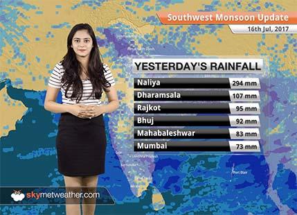 Monsoon Forecast for Jul 17, 2017: Good rains in MP, Jharkhand, Chhattisgarh, Gujarat
