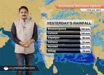 Monsoon Forecast for Jul 18, 2017: Good rains in Gujarat, Odisha, Delhi, Chhattisgarh, MP