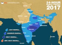 Southwest Monsoon forecast for August 18 across India
