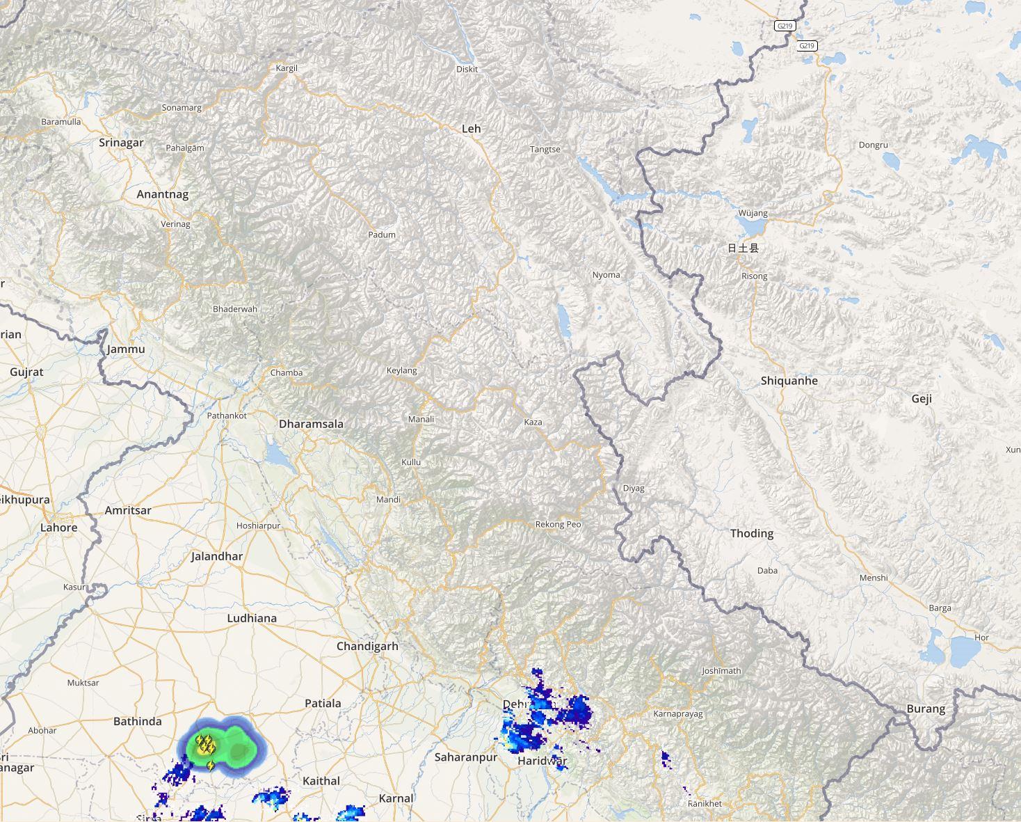 Jammu kashmir, Himachal and Uttarakhand lightning and rain