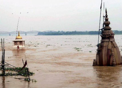Flood in Varanasi and Allahabad