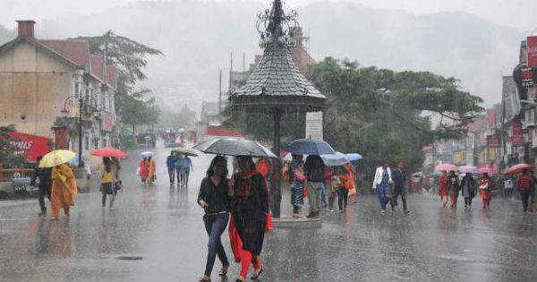 Heavy rain in Dharamshal