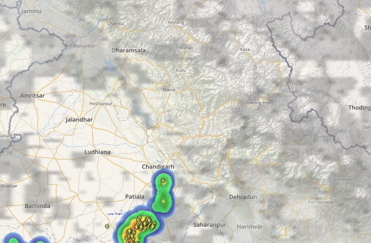 Himachal Pradesh and Uttarakhand Lightning