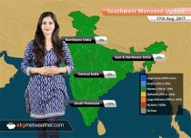 Monsoon Forecast for Aug 18, 2017: Rains over Odisha, Karnataka, Maharashtra; Delhi to remain dry