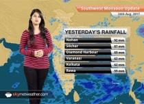 Monsoon Forecast for Aug 25, 2017: Rain in Chhattisgarh, Jharkhand, Bihar, Assam