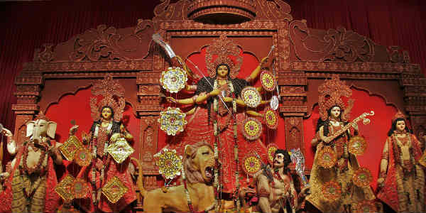 Maha Ashtami being observed