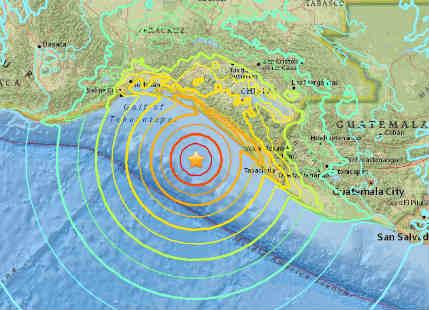 Earthquake of magnitude 8 rattles Mexico, Guatemala; Tsunami warning issued