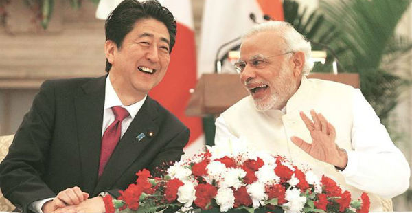 Modi-Abe meeting in Ahmedabad