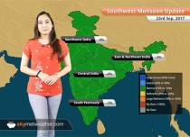 Monsoon Forecast for Sep 24, 2017: Rain in Delhi, Haryana, Uttar Pradesh, Uttarakhand, HP