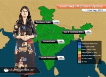 Monsoon Forecast for Sep 22, 2017: Rain in Delhi, Madhya Pradesh, Uttar Pradesh