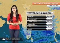 Monsoon Forecast for Oct 1, 2017: Good rains in Bihar, Chattisgarh and Assam