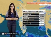 Monsoon Forecast for Sep 6, 2017: Rain in Vidarbha, Chhattisgarh; dry weather in Delhi, Northwest India