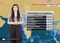 Monsoon Forecast for Sep 14, 2017: Rain in Bihar, Gujarat, Madhya Pradesh, Chhattisgarh, Vidarbha