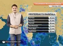 Monsoon Forecast for Sep 16, 2017: Rain in South Gujarat, Madhya Pradesh, Maharashtra