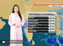 Monsoon Forecast for Sep 25, 2017: Rain in Bengaluru, West Bengal, Konkan & Goa, Uttarakhand