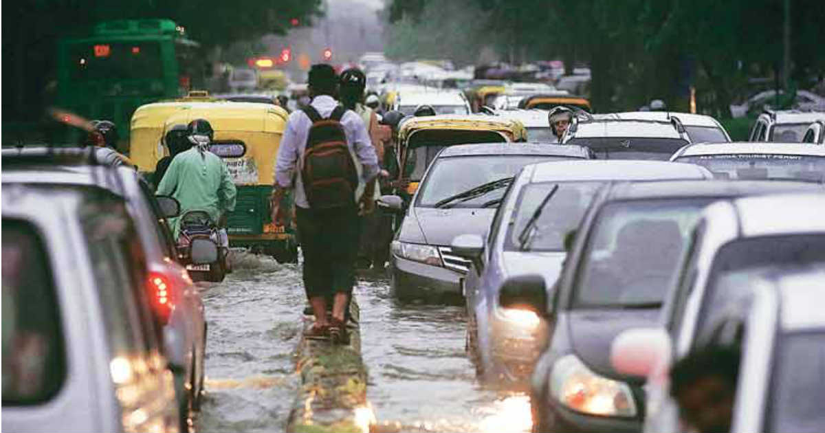 Delhi Rains Capital Gears Up For Water Logging Traffic