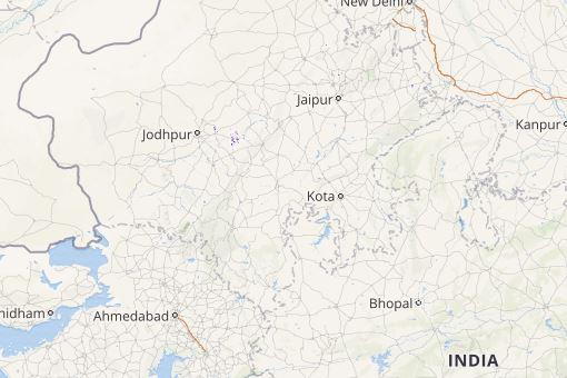 lightning in northwest India