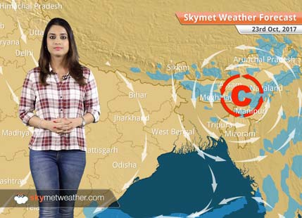 Weather Forecast for Oct 23: Dry weather in Delhi; Rain in Andaman, Assam, Odisha
