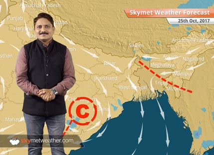 Weather Forecast for Oct 25: Dry weather in Delhi, Madhya Pradesh, Gujarat; Rains in Chhattisgarh
