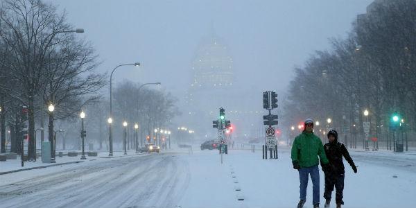 US snow post