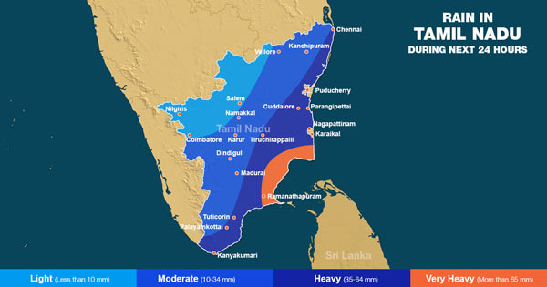 Chennai Rains forecast for 24 hours