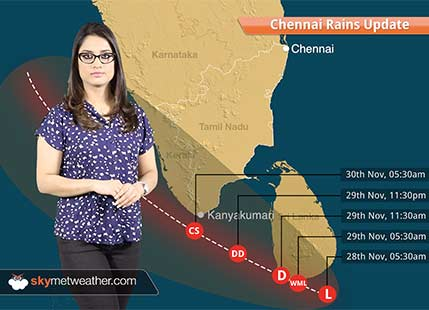 Chennai Rains 2017 Update: Depression in Bay may intensify into cyclone, Heavy rains in TN, Kerala