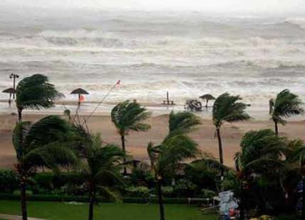 Image result for Cyclone Ockhi moving away from Kerala coast, heavy rains lash Trivandrum, Kanyakumari,