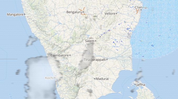 Live Lightning over parts of India