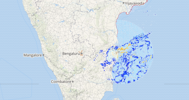 Live status of Lightning and thunderstorm across India