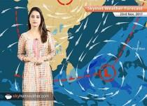 Weather Forecast for Nov 23: Rain in TN, Kerala, Minimums to remain below normal in Delhi