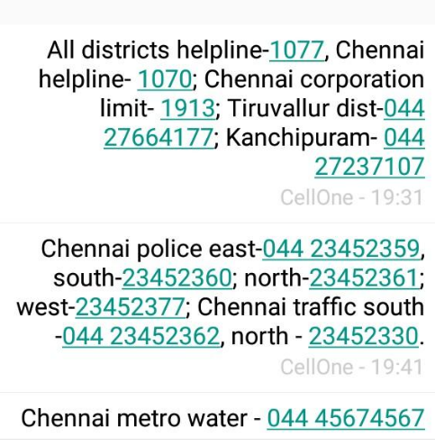 Relief numbers