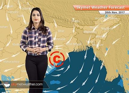 Weather Forecast for Nov 20: Minimums to drop in Delhi, Northwest India; Rain in TN, Odisha