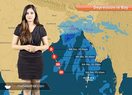 Deep depression in Bay to give rains in Kolkata, Andhra Pradesh, Odisha