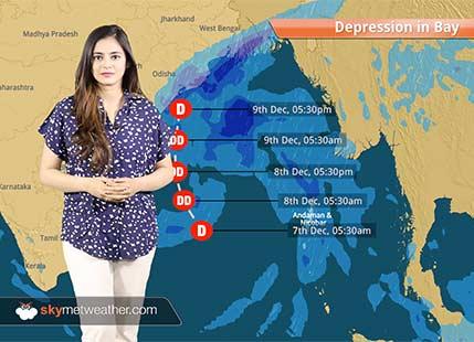 Depression to intensify, Rain in Andhra Pradesh, Odisha and Gangetic West Bengal