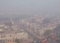 Smoke haze and clouding in Delhi