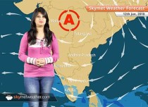Weather Forecast for Jan 12: Rain in Tamil Nadu, Kerala, coldwave to abate from Punjab, Haryana