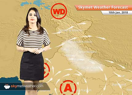 Weather Forecast for Jan 18: Rain in Kashmir, Kerala, Andaman, Fog in Punjab, Haryana