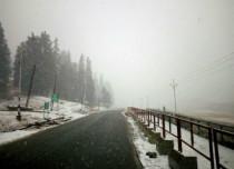 Seasons first snowfall in Leh