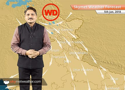 Weather Forecast for Jan 5: Rain, Snow in Kashmir, Himachal, Fog in Uttar Pradesh and Bihar