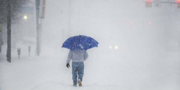 Snow and strong winds expected Sunday