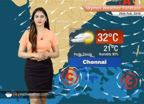 Weather Forecast for Feb 25: Rain in Tamil Nadu, Kerala snow in Manali, Srinagar Kashmir, Himachal, Uttarakhand