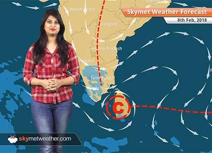 Weather Forecast for Feb 8: Rain in Bengaluru, Kerala, Tamil Nadu; dry weather in Mumbai, Delhi